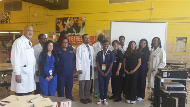 Photo of BCM faculty, trainees and medical students participating in Doctor's Day Outreach.