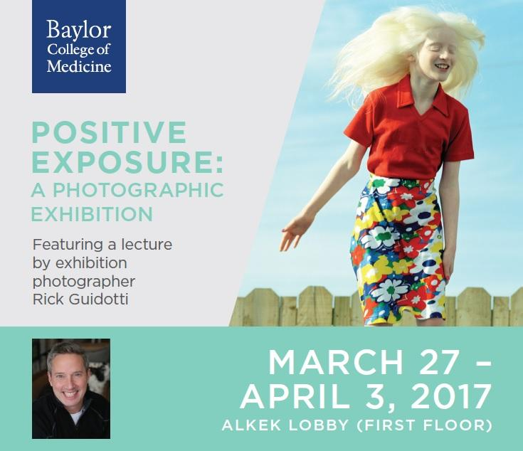 Positive Exposure: A Photographic Exhibition by Rick Guidotti uses photographs to transform public perceptions of people living with genetic, physical, intellectual and behavioral differences.